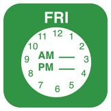 "DayMark ReMark™ ¾"" Friday Day Label w/ Clock"