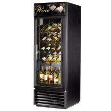 True® GDM-23W-LD Black 5-Shelf 23 Cu. Ft. Wine Merchandiser