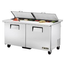 True® TSSU-60-16-DS-ST 15.5 Cu Ft 16-Pan Sandwich / Salad Unit