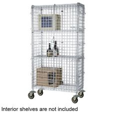 "Focus Foodservice FMSEC1836 18 x 36 x 63"" Mobile Security Cage Kit"