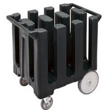 "Cambro DC700110 Black 6 Column Dish Caddy For 7"" Plates with Cover"