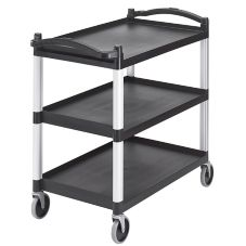 Cambro BC340KD110 Black Knockdown Utility Cart