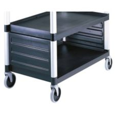 Cambro BC340KDP110 Black Single Shelf Panel Set for KD Utility Carts