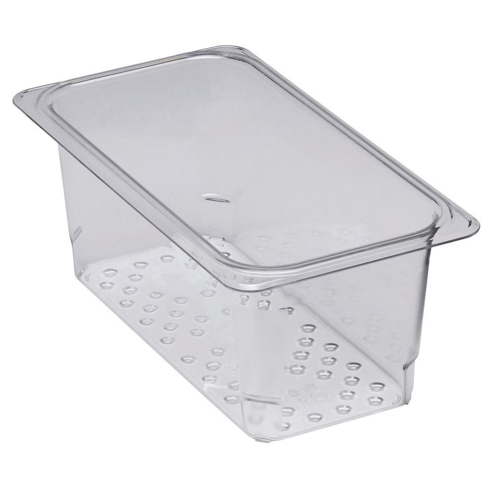 """Cambro 35CLRCW135 Camwear Clear Colander for 5"""" D Third Size Food Pan"""