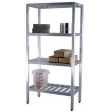 "New Age 1068TB Aluminum 72 x 24 x 72"" T-Bar Style Shelving Unit"