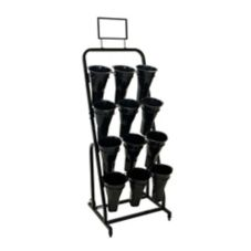 "Mobile Merchandisers® FC2452 59"" 12 Vase Floral Display Rack"