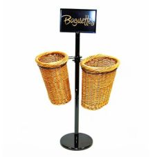 Mobile Merchandisers BS36/2 2-Basket Display Rack for Baguettes - Kit