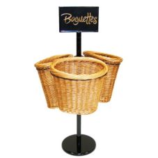 Mobile Merchandisers BS36/3 Triple Basket Stand - Kit