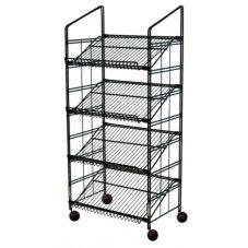 """Mobile Merchandisers® CL524BSG 52"""" Modular 4-Shelf Rack"""