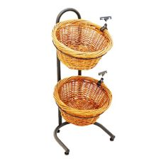 "Mobile Merchandisers K1430/2 Black 31"" x 15"" x 16"" Two Basket Display"