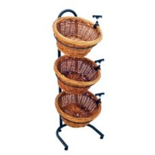 Mobile Merchandisers Black Tube Frame Three Tier Round Display Basket