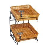 Mobile Merchandisers K1414C-U/L 2-Tier Basket Counter Merchandiser