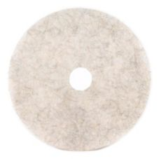 "3M 18210 Natural Blend White 20"" Floor Polishing Pad 3300 - 5 / CS"