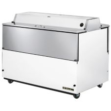 True® Dual Sided White Vinyl and S/S 24.5 Cu Ft Milk Cooler