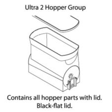 BUNN 34000.0208 Ultra-2 Replacement Hopper with Black Flat Lid