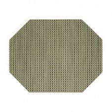 "Front Of The House® 11""x14"" Gold Basketweave Placemat"