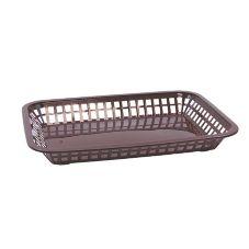 "TableCraft 1077BR 10-3/4"" Brown Grande Platter Basket - 36 / CS"