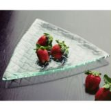 "Isinglass T004-315-12-1 12-1/2"" Triangular Woven Glass Dish"