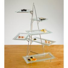 Isinglass DP011-SET-1 Riser With 3 Levels & 3 Clear Glass Platters