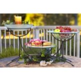 Isinglass DP012-SET-1 Arched Steel Display Stand With Glass Platters