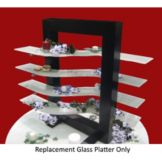 Isinglass WW001-600-36-G Clear Glass S-Shaped Platters - 4 / CS