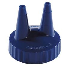 Vollrath 2200-44 Traex® Blue Twin Tip Cap for Squeeze Bottle