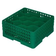 Traex® 12 Compartment Green Rack Max® Glass Rack with 3 Extenders