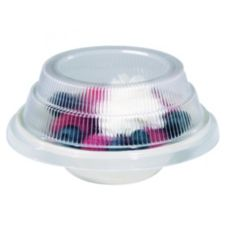 Dinex® Translucent Disp. Lid f/ China Fruit Bowl or Dessert Plate