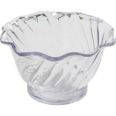 Dinex DXSWC507 SAN Plastic Swirled 5 Oz. Tulip Bowl - 96 / CS