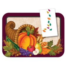 "Dinex® Happenings Harvest Traymat for 14"" x 18"" Tray"