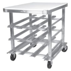 Win-Holt® CR-54PT Self-Feeding Can Storage Rack with Poly Worktop