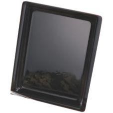 "Cal-Mil® 335-10-13 Black Acrylic 10"" x 14"" Tray"