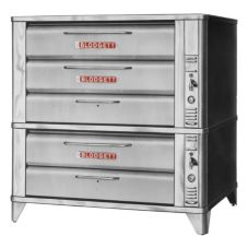 "Blodgett 981 & 961 Gas Double Deck Oven w/ (2) 7"" Sections"