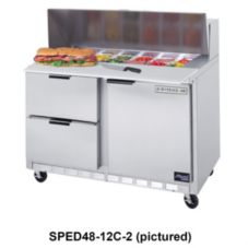 Beverage-Air SPED48-08C-4 Elite Refrigerated Counter w/ 8 Pan Openings