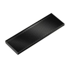 Service Ideas DT412BL Rectangular Black Drip Tray