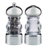 "Chef Specialties 29160 Acrylic Lori 5.5"" Salt Shaker / Pepper Mill Set"