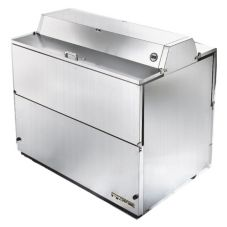 True® All S/S Dual-Sided Forced Air Mobile 20.9 Cu Ft Milk Cooler