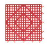 """San Jamar® VM5280RD Red 12""""x12"""" Versa-Mat®"""