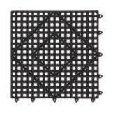 "San Jamar® VM5280BK Black 12""x12"" Versa-Mat®"