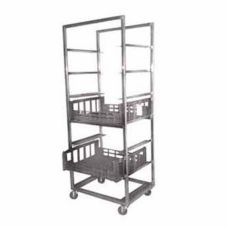 "SPG International 4H0743 Mobile 33.5 x 29 x 79"" Crisping Produce Cart"