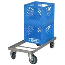 "Kelmax 4J0277 S/S 14"" x 28"" Milk Crate Dolly with Casters"