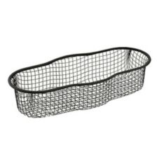 "Courtesy Products 15217 Black Oval 5"" X 12"" Wire Presentation Basket"