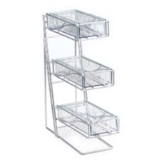 Cal-Mil 1235-39-43 Faux Glass 3-Tier Cutlery / Condiment Holder