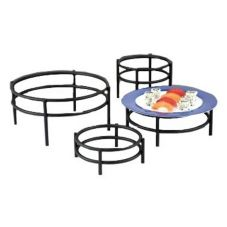 D.W. Haber & Sons 0730BKSET Black 4-Piece Round Riser Set
