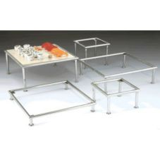 Five Piece S/S Square Riser Set
