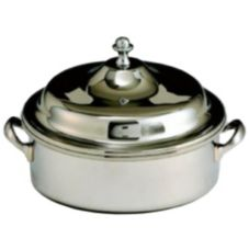 S/S Round Chafer w/ Handles and Knob, 4 Qt