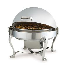 Chrome and Silver Plated Round Chicago Millenium Rolltop Chafer, 2 gal