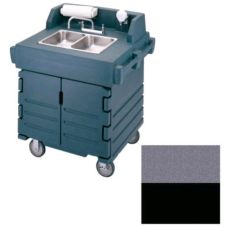 Cambro CamKiosk® Hand Sink Cart, 110V, Black and Granite Gray