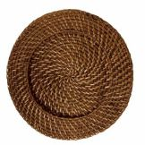 "Front Of The House® DPT010BRK23 12"" Rattan Charger - 12 / CS"