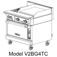 "Vulcan Hart V2BG4T V Series 36"" Gas Range with 24"" Griddle"